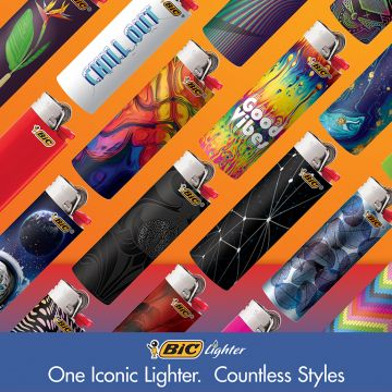 BIC Classic Lighters, Assorted, 5 Pack