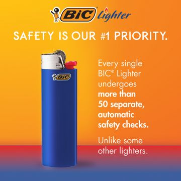 BIC Classic Electronic Series Lighters, Assorted, 8 Pack
