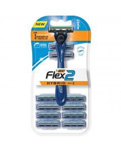 BIC Flex2 Hybrid Men's Twin Blade Razor