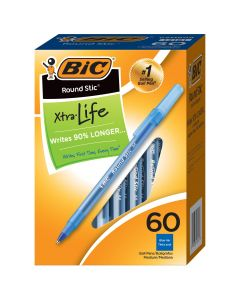 BIC Round Stic Xtra Life Ball Point Pen