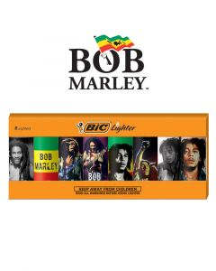 BIC Special Edition Bob Marley Series Lighters, Assorted, 8 Pack