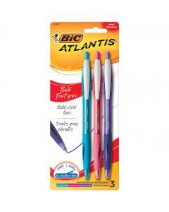 BIC Atlantis Bold Retractable Ball Point Pen