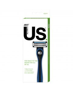 Us. 5-Blade Shaving Razor Starter Kit for Men and Women