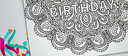 Mark your calendars and make someone's birthday with printable color-yourself calendars & cards.